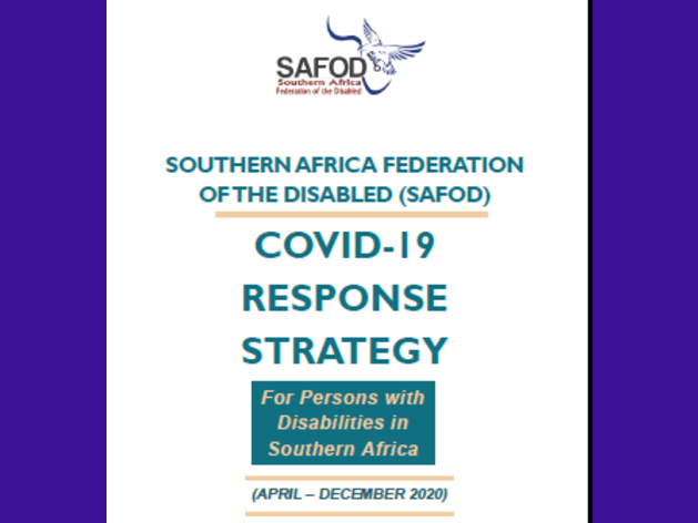 Regional Covid-19 Response Strategy for Persons with Disabilities